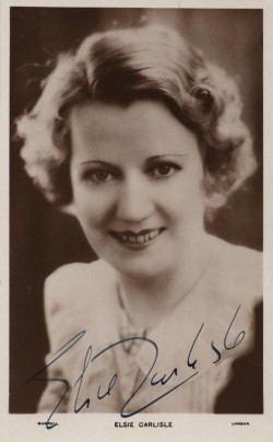 Elsie Carlisle (signed photograph, late 1930s?)