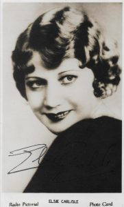 This signed postcard dates from the mid-1930s, but the original photo was taken no later than 1932.