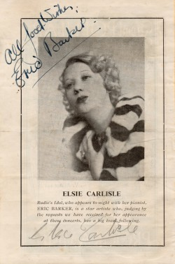 Elsie Carlisle on a 1940 concert program