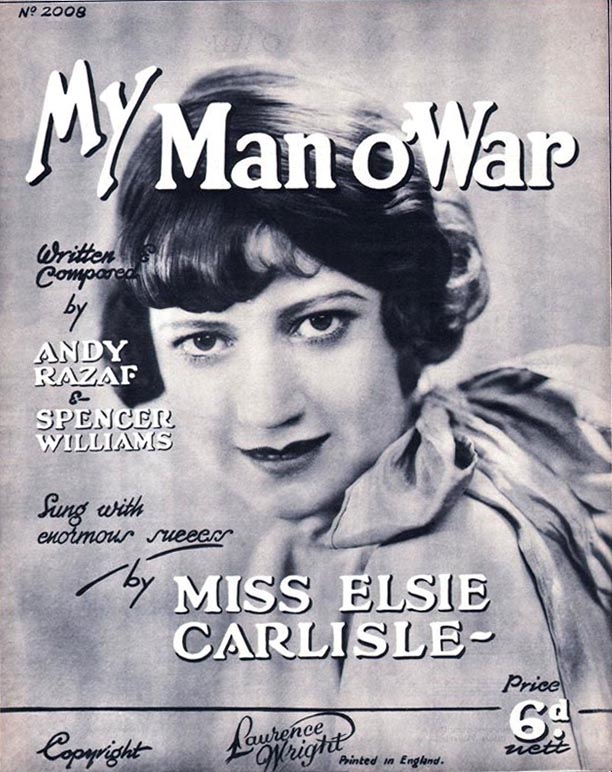 """My Man o' War"" sheet music featuring Elsie Carlisle"