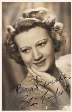 A signed photograph of Elsie Carlisle c. 1941-1942