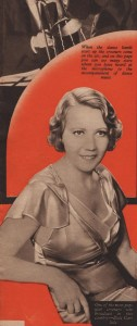 Elsie Carlisle in the center spread of the very first edition of Radio Pictorial (January 19, 1934).