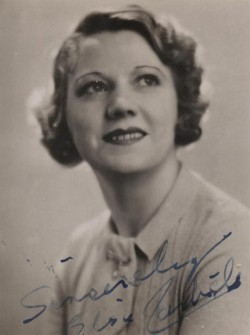 "Small signed photograph of Elsie Carlisle (1936 or earlier; this photograph appears on the sheet music for the 1936 Billy Hill song ""The Glory of Love"")"